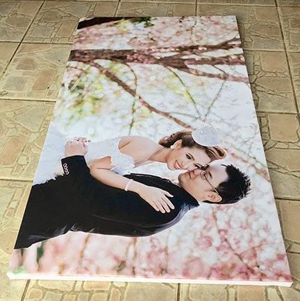 กรอบผ้าแคนวาสแต่งงาน 30x50 นิ้ว