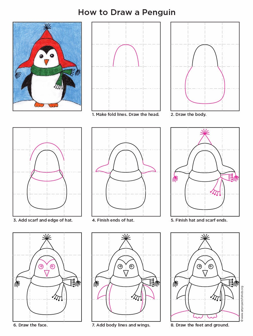How to Draw a Penguin | Art Projects for Kids | Bloglovin'