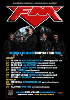 FM Heroes & Villains European Tour 2016 poster