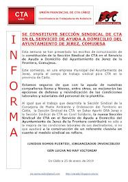 SE CONSTITUYE SECCIÓN SINDICAL DE CTA EN EL SERVICIO DE AYUDA A DOMICILIO DEL AYUNTAMIENTO DE JEREZ