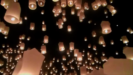 family travel blog yi peng lantern festival chiang mai thailand