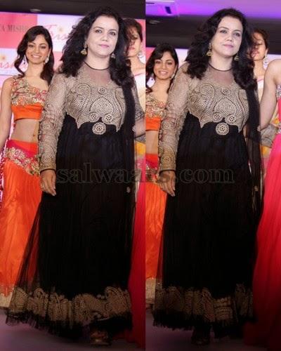 Designer Amrita Misra in Black Salwar