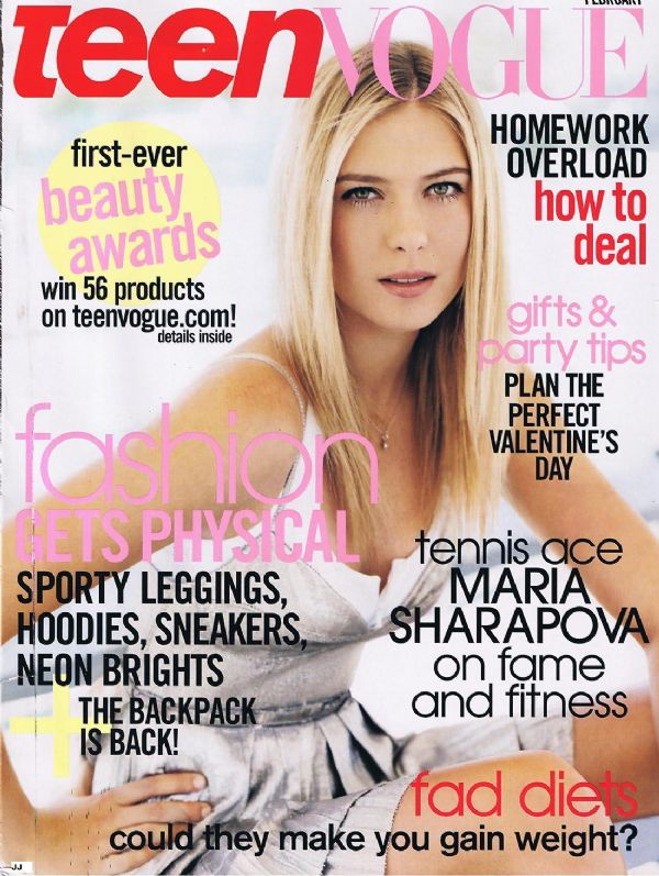 maria sharapova in deep magazine cover photo of mexico may 2009 edition