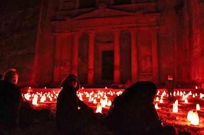 The Treasury by Night - Petra