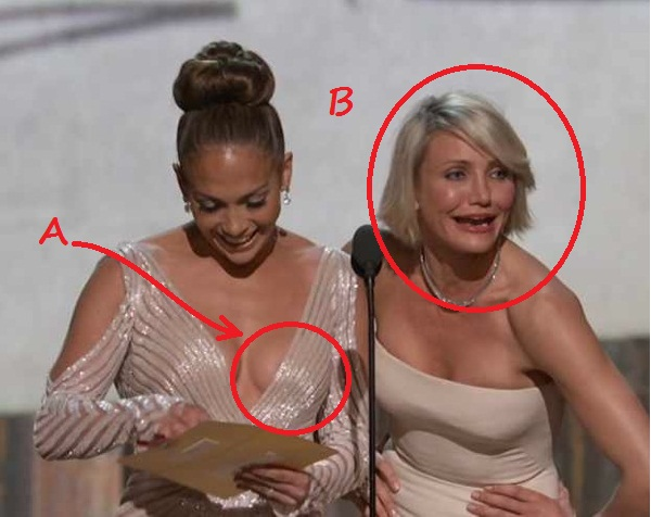 Nipple or no nipple, Lopez and Diaz reacted to the situation adorably ...