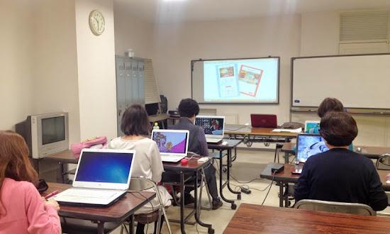 名鉄百貨店友の会文化教室「楽々ホームページ作成」講座の様子