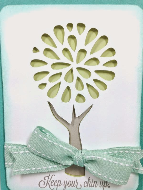 Close To My Heart Artfully Sent Cricut Cartridge Pretty Tree card closeup