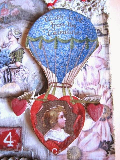 detalle globo s. XIX tag febrero vintage y romántico para San Valentín