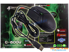 Mouse Gaming BattleCat G600U 4tombol 2800DPI