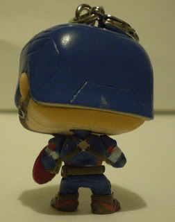 Back of Captain America Pocket Pop Keychain out of the box