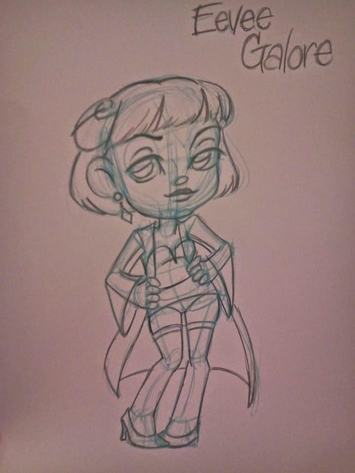 burlesque, sketch, commission, Nattosoup