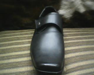 sepatu bally di lihat dari sisi depan