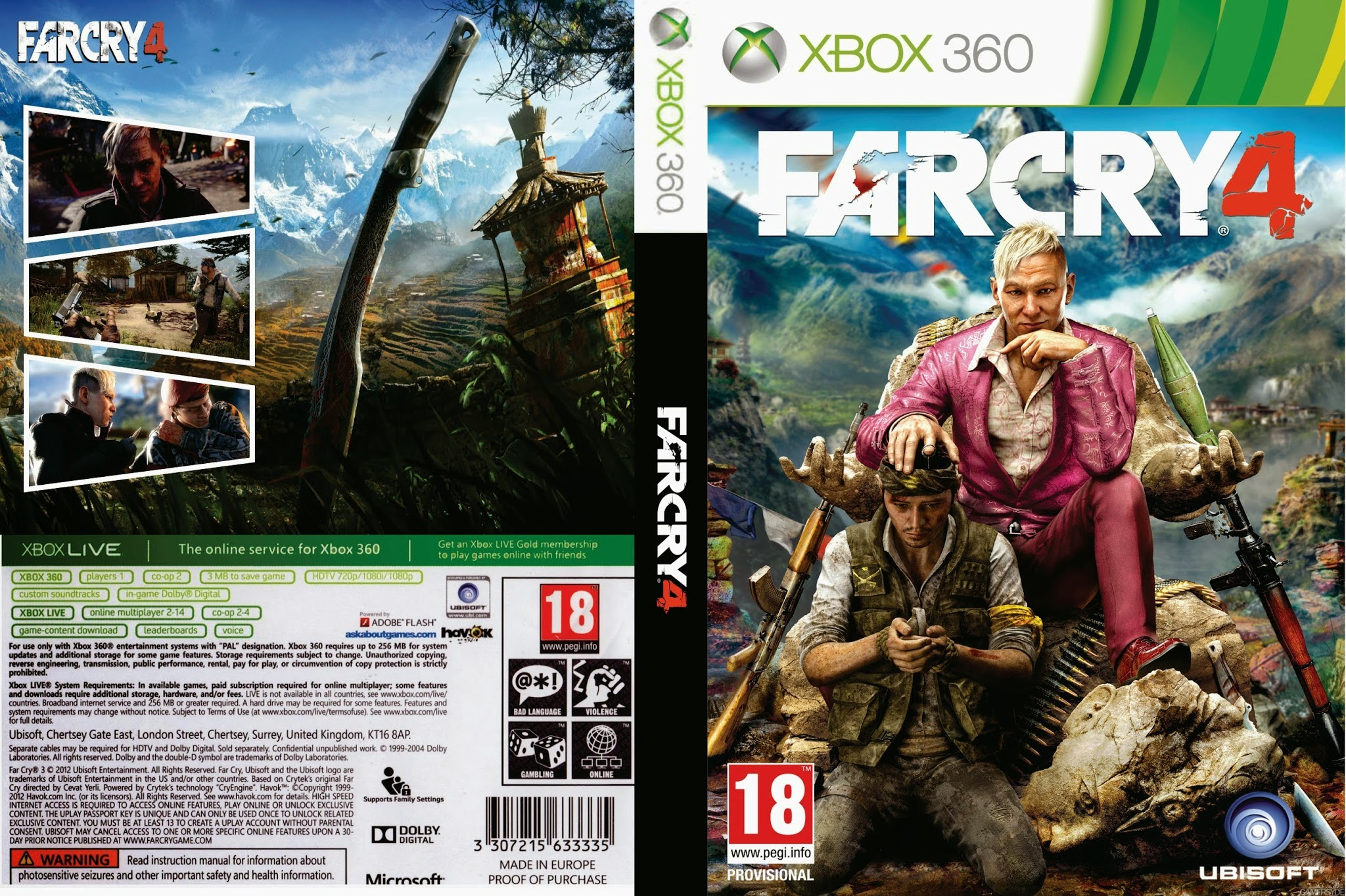 far cry 4 xbox 360 ultra capas. Black Bedroom Furniture Sets. Home Design Ideas