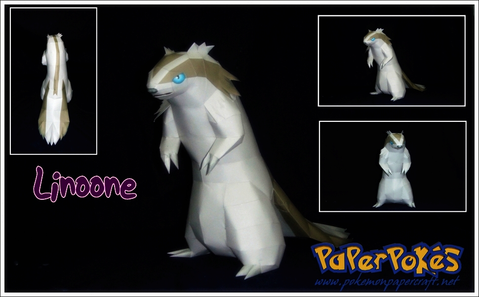 Pokemon Linoone Papercraft