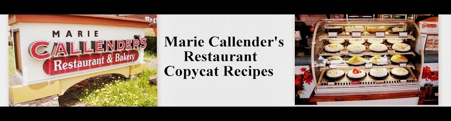 Marie Callenders Copycat Recipes