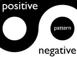 black and white picture of positive and negative pattern