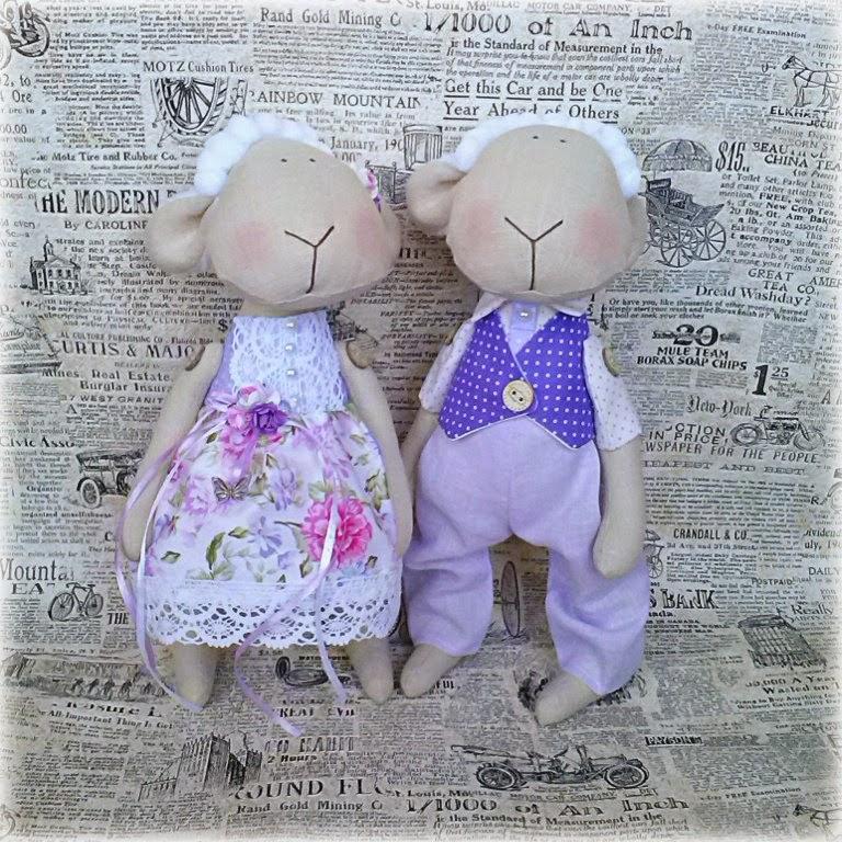 овечки, тильда, авторская кукла, подарок на новый год, 2015, подарок любимой, символ года