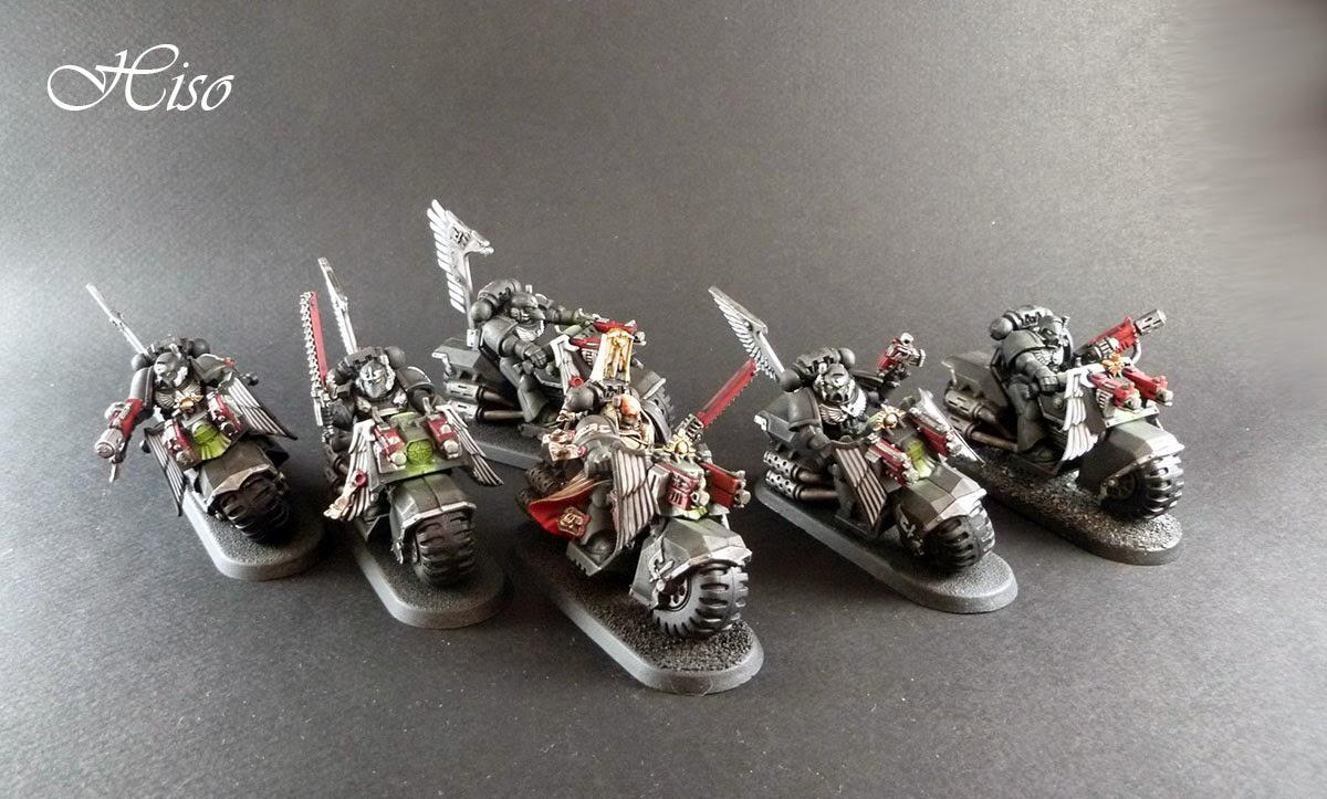 Dark Angels Ravenwing - motos