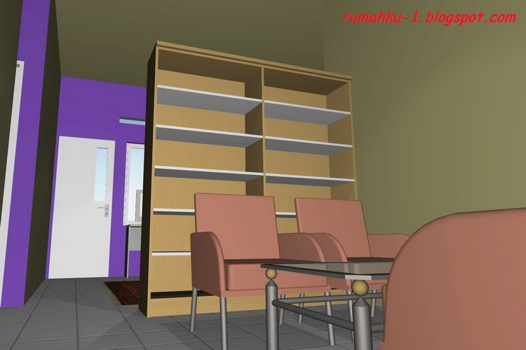 gambar 1 design interior minimalis rumah type 45 135