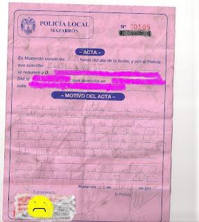 CNT Mazarrón multa por pegar carteles denuncia AIT