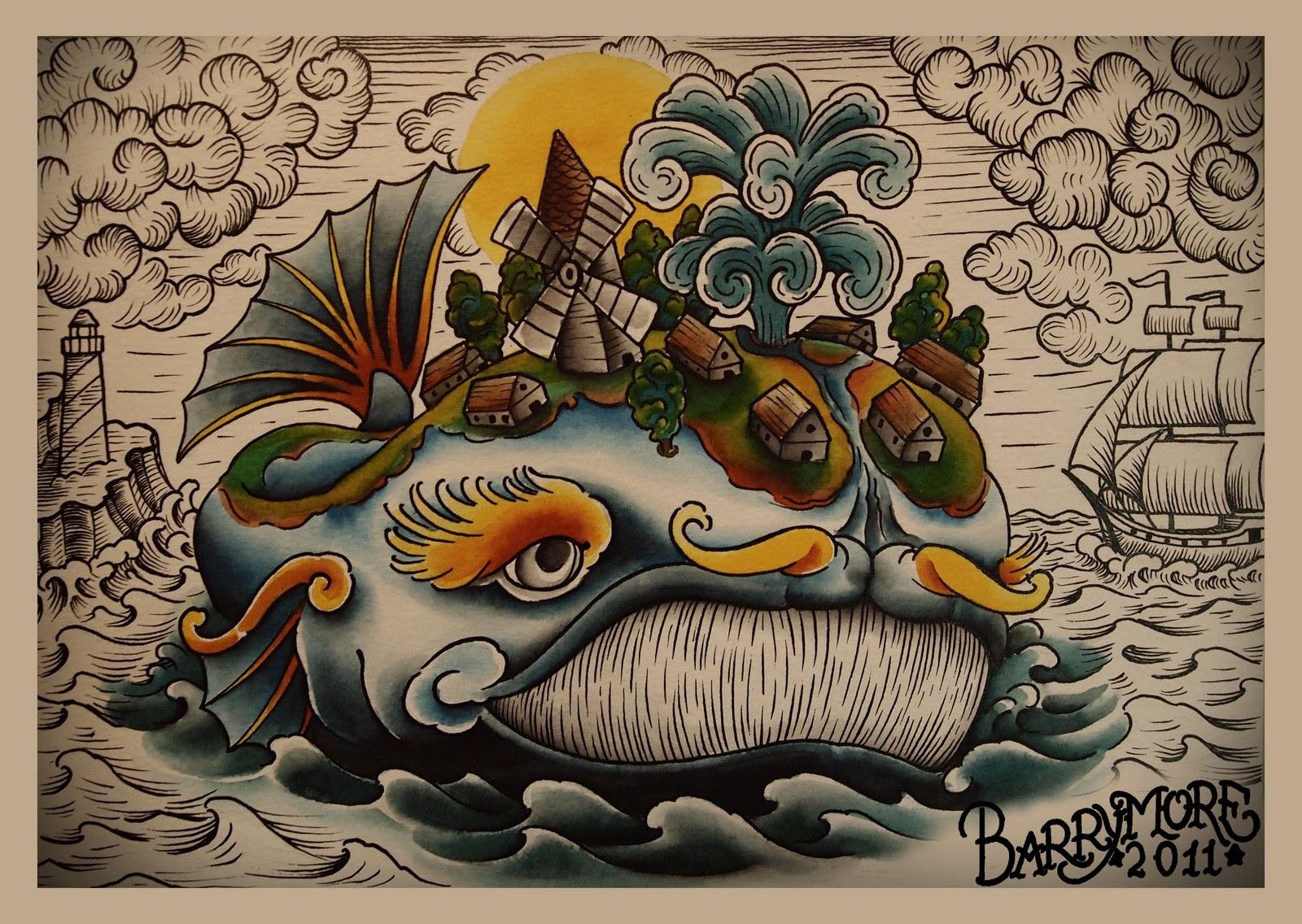 BARRYMORE TATTOO: Чудо-юдо Рыба-кит: barrymoretattoo.blogspot.com/2012/01/blog-post_18.html