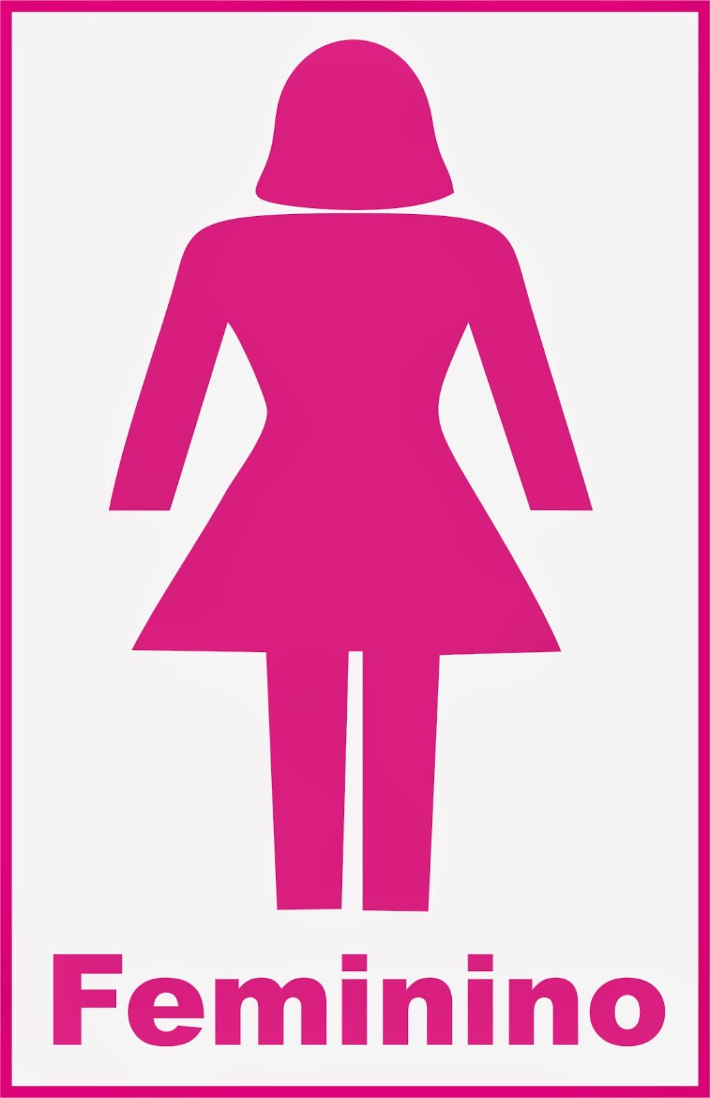 Placas Indicativas ~ EM Promocional -> Boneco Banheiro Feminino