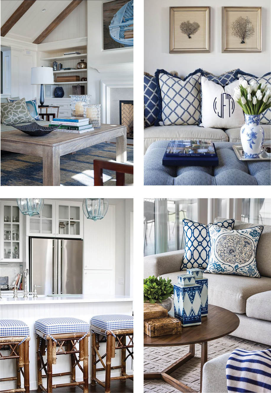 Coastal style hamptons style chic in blue for Hamptons beach house interiors