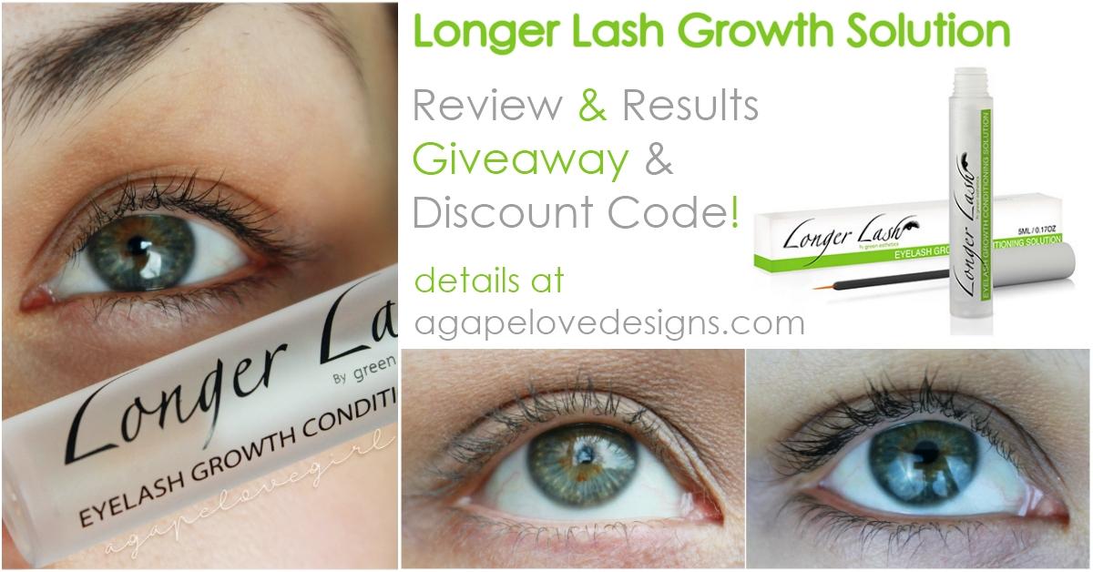 Agape Love Designs Longer Lash Growth Solution Review Giveaway