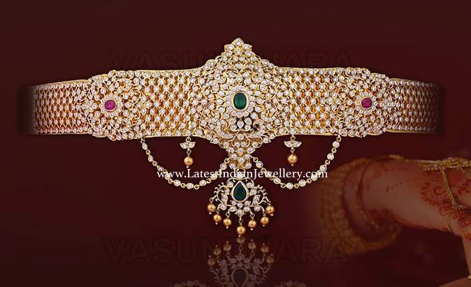 diamond vaddanam waist belt design