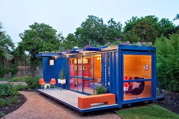 Casas contenedores casa para invitados hecha con un - Casa hecha de contenedores ...