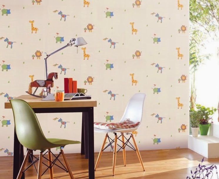 zürafalı duvar kağıdı