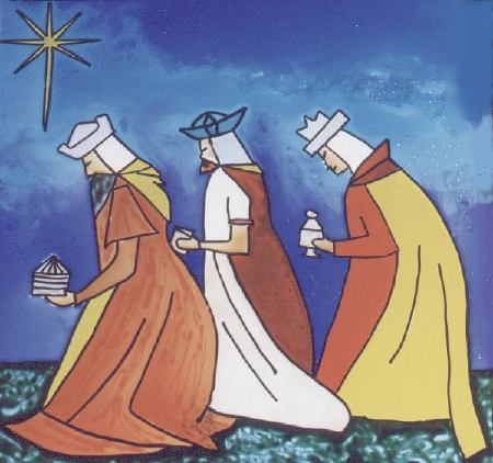 Estrella de David y los Reyes Magos