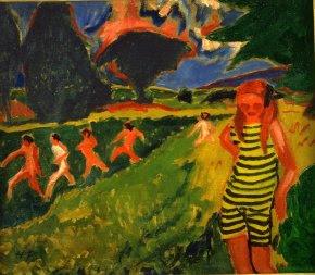 Max Pechstein (1881-1955) Le Maillot jaune et noir , 1909