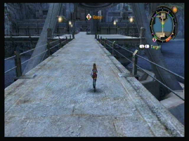 Fiora runs along the walkways of Colony 9.
