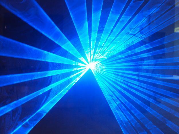 Laser show azul