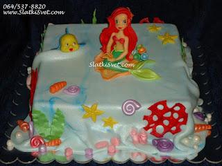 Torta Mala Sirena - Torte za devojcice