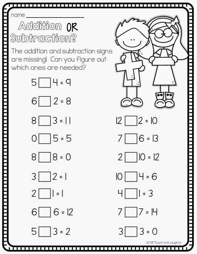 math worksheet : teach with laughter add or subtract  : Long Addition And Subtraction Worksheets