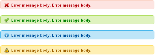 error,success,info and warning css message box 003
