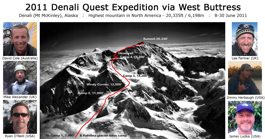 2011 Denali Quest Expedition via West Buttress