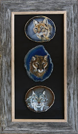 Wild Cats on Brazilian Agate