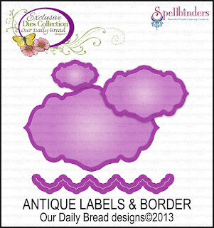 our daily bread designs, antique labels and border die