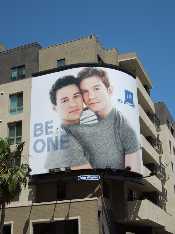 Gay Gap Be One billboard