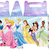 Cute Disney Princess: Free Printable Lunch Box.