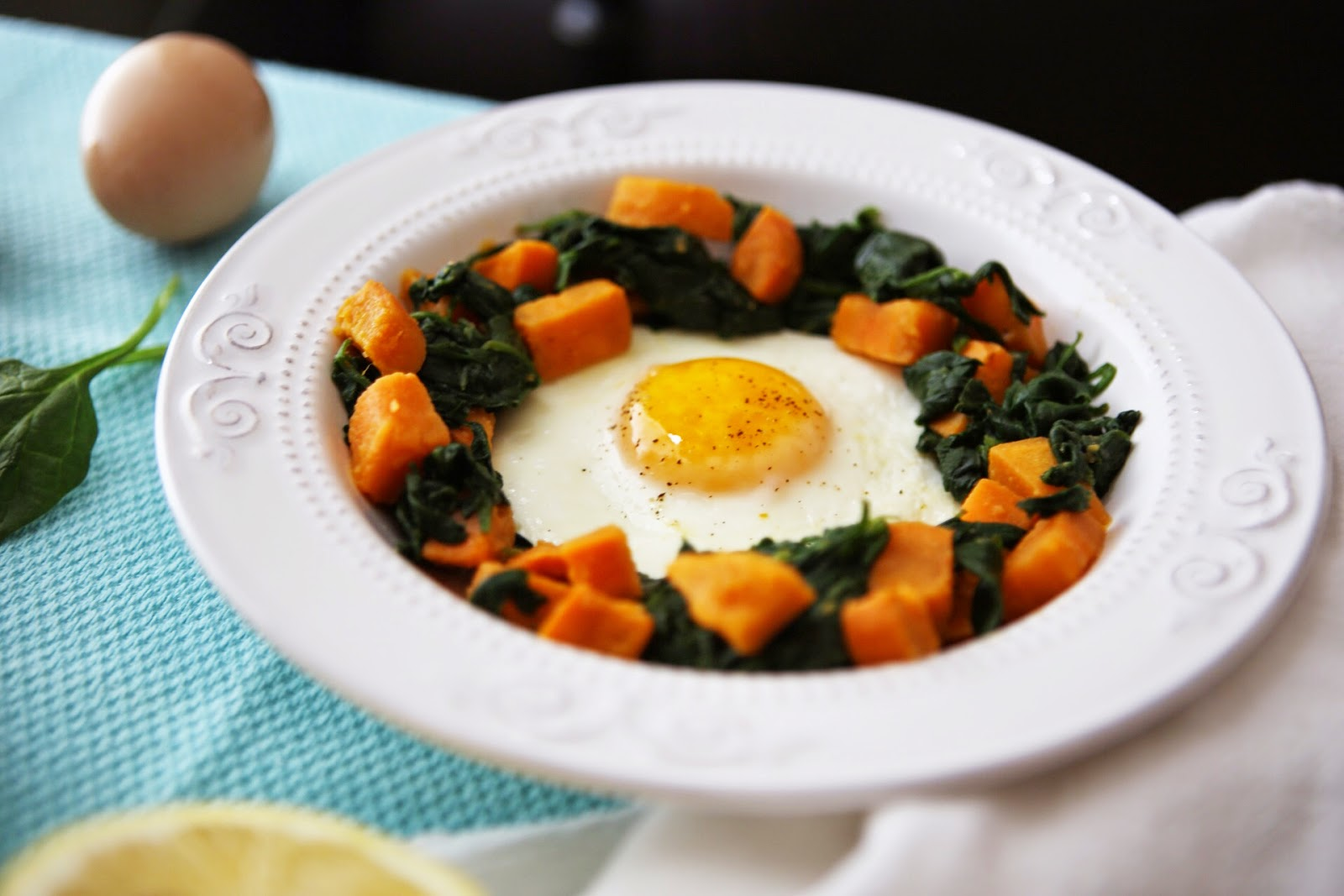Sealed with a Whisk: Sweet Potato + Spinach Hash ...