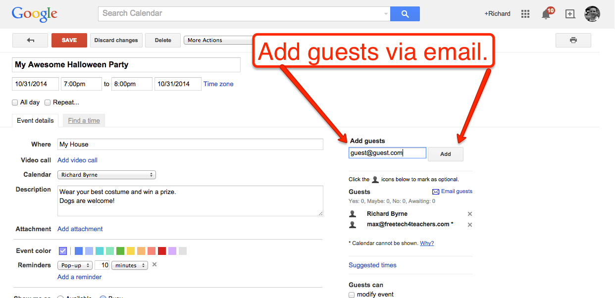 How To Invite Guests To Google Calendar Events Todoele 2 0