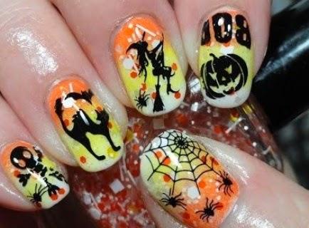 Scary Nails Art