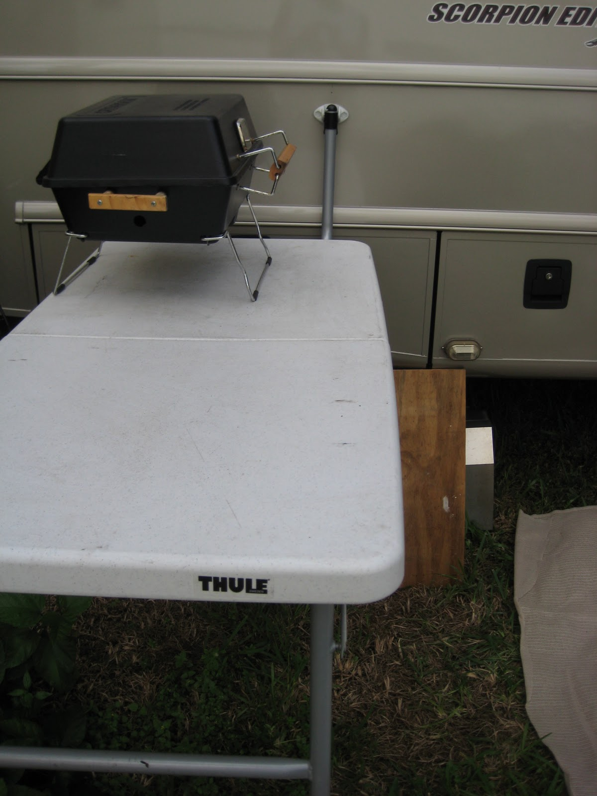 Hula Hut Rv Mods And Changes Outside Removable Table