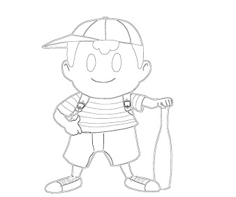 #9 Ness Coloring Page