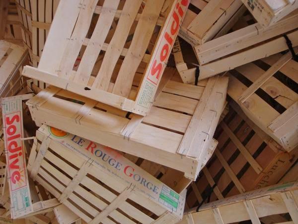 Le blog de l 39 amap les champs penel recyclage - Recyclage cagette bois ...
