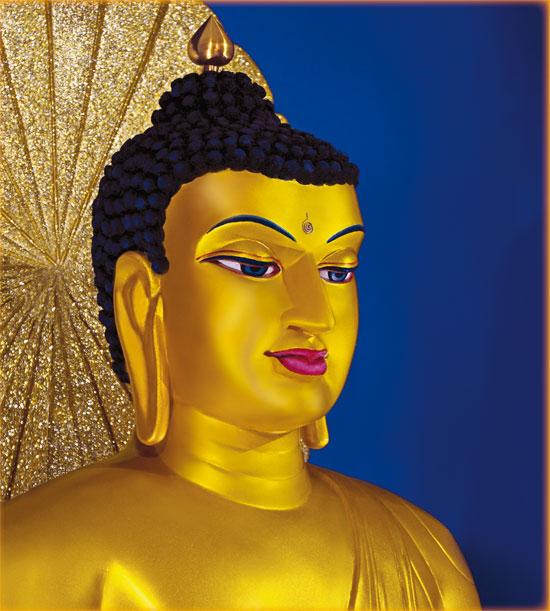 Beautiful Buddha statues in Mahabodhi Stupa Bodh Gaya at Bihar District
